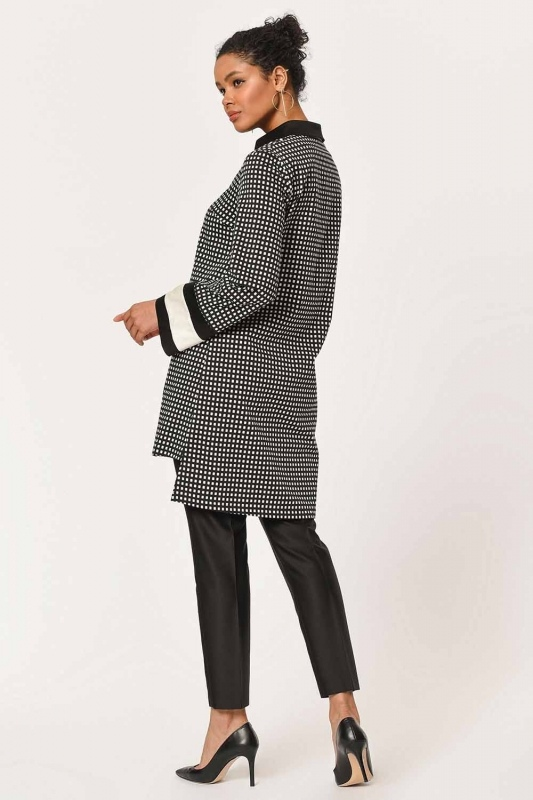 Stripe Detailed Tunic Shirt (Black)