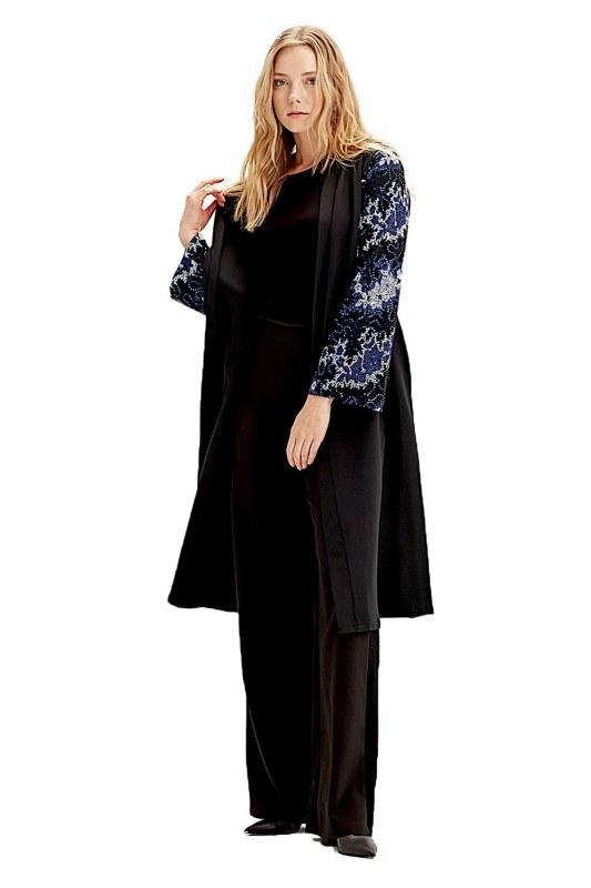 Kimono Inlaid Sleeve (Blue)