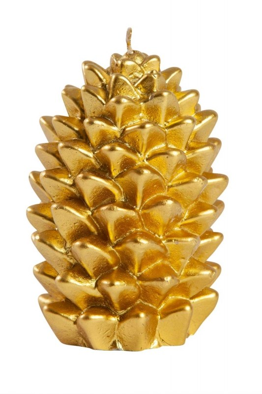 لون ذهبي ، مخروط شمعة (11X8)