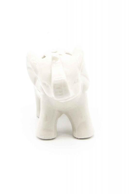 Small Size Porcelain Elephant Trinket (White)