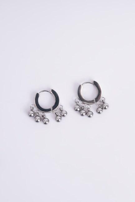 Küçük Çelik Küpe (Gri) - Thumbnail