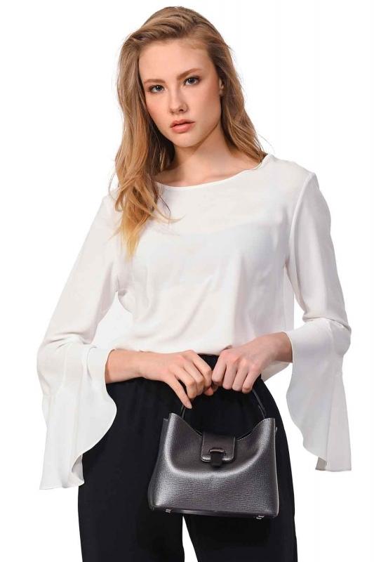 Small Handbag with Snaps (Grey)