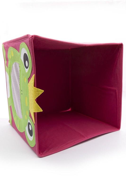 Kurbağalı Oyuncak Saklama Kutusu (Kırmızı)