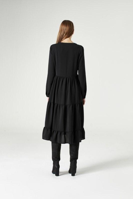 Bird Eye Detailed Dress (Black)