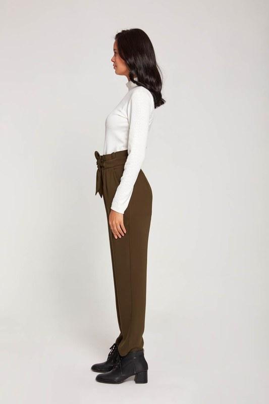 Bird-EyeDetailed Trousers (Khaki)