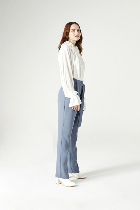 Belt Detailed Trousers (Indigo)