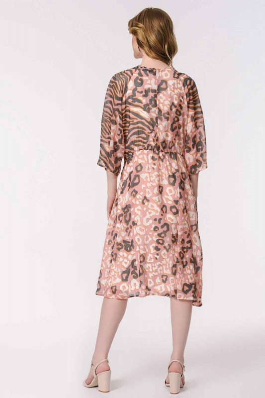 Leopard Patterned Dress (Pink)