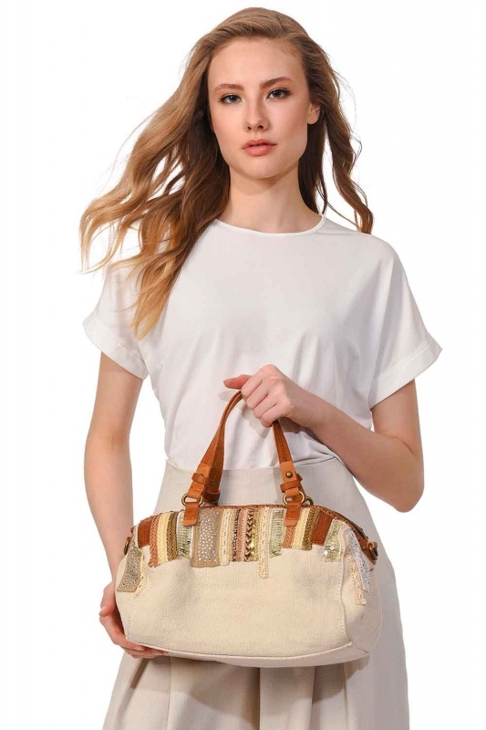 Linen Arm Bag (Ecru)