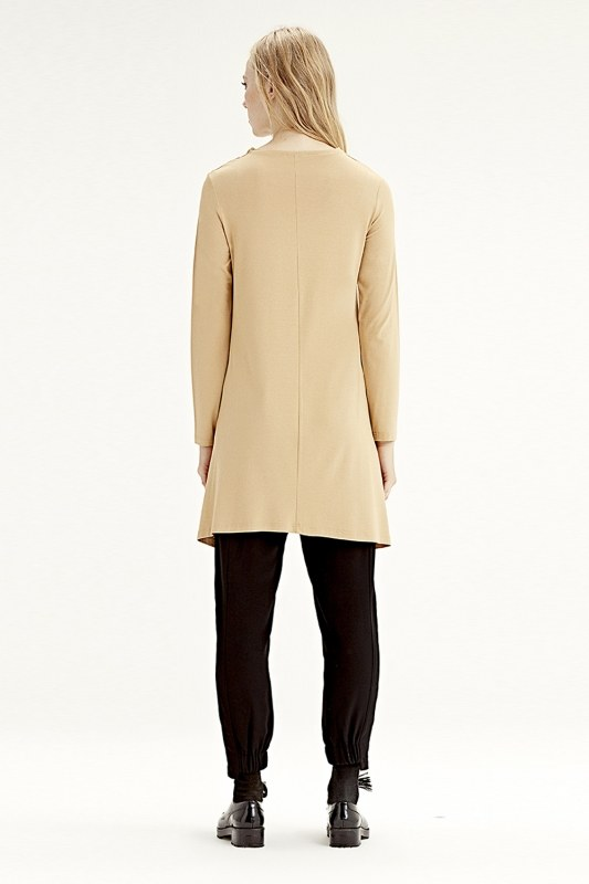 Long-Sleeved Basic Tunic (Mustard)