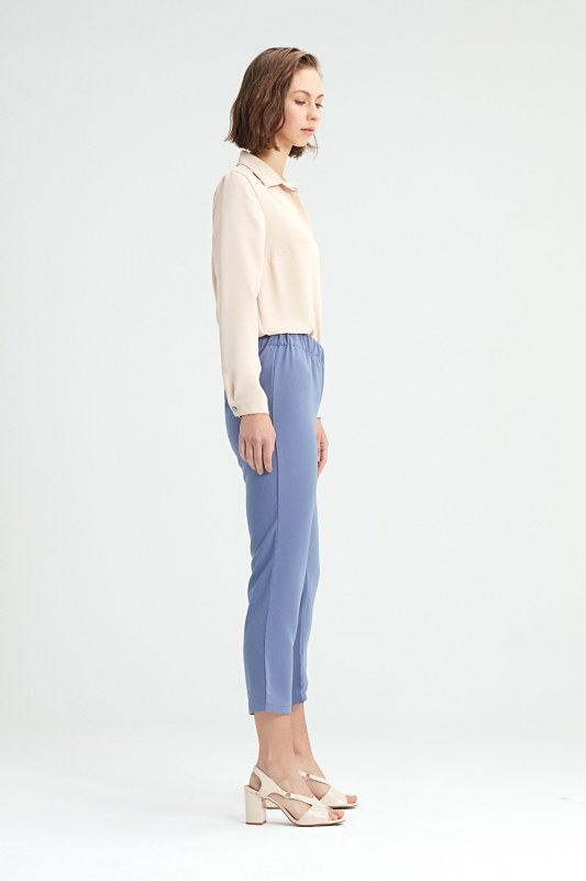 Blue Skinny Trousers (Blue)