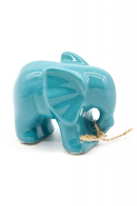 Medium Size Elephant Trinket (Blue)