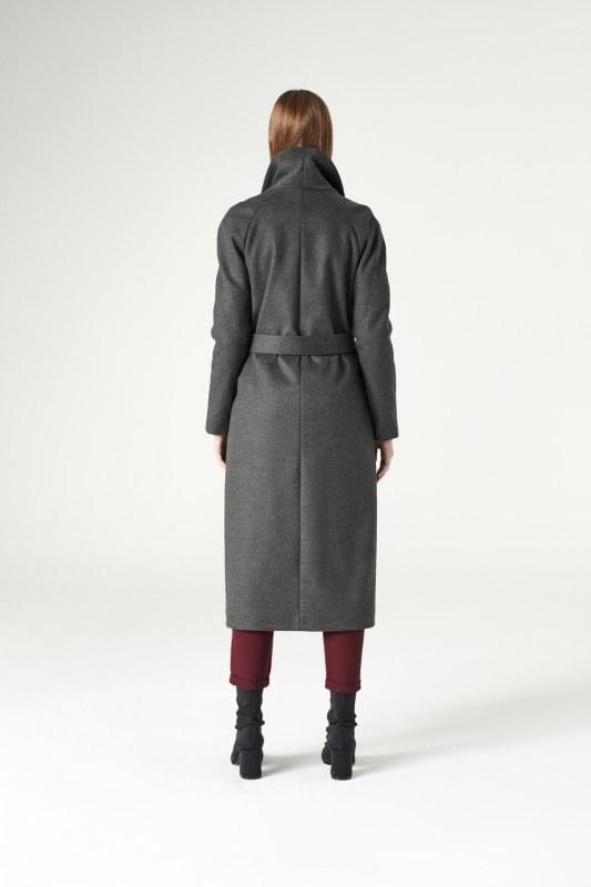 Mega Collar Cachet Coat (Anthracite)