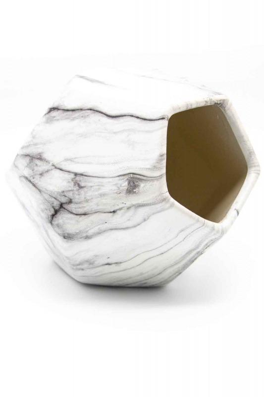 Mermer Görünümlü Geniş Vazo (St)