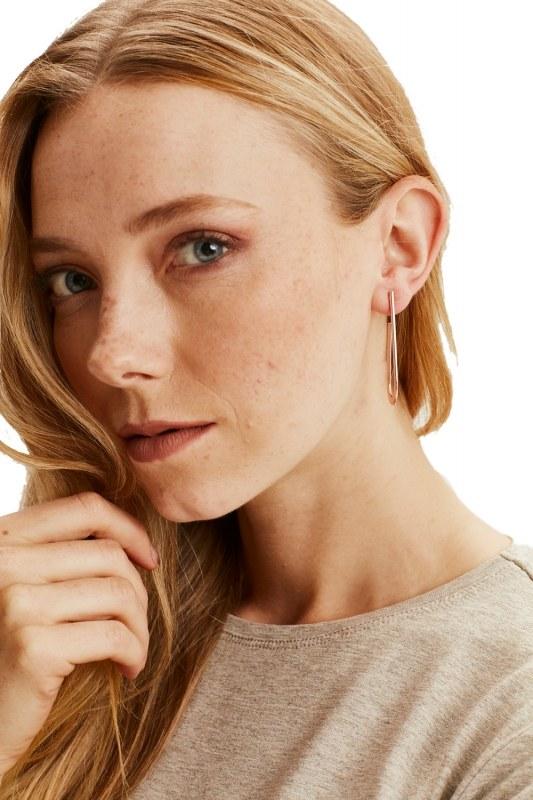 Metal Minimal Earrings (Rose)