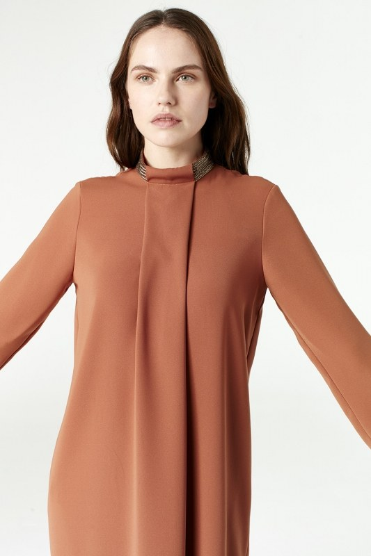 Metallic Detailed Tunic (Brick Red)