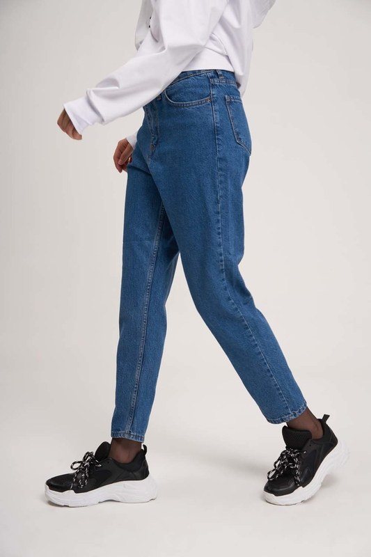Mom Denim Pantolon (Mavi)