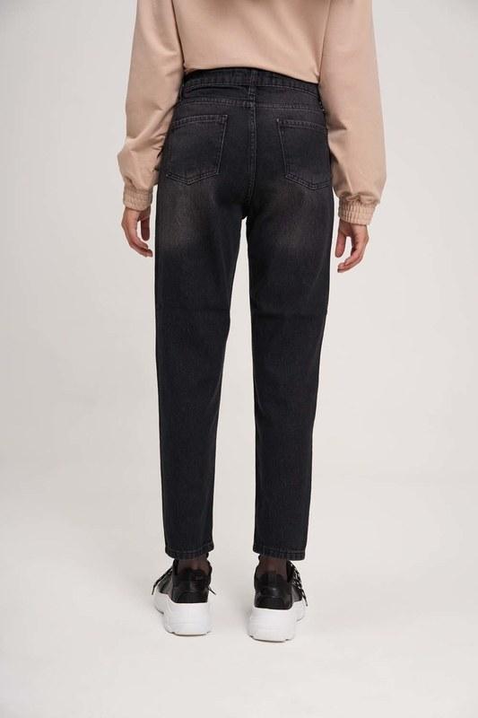 Mom Denim Pantolon (Siyah)