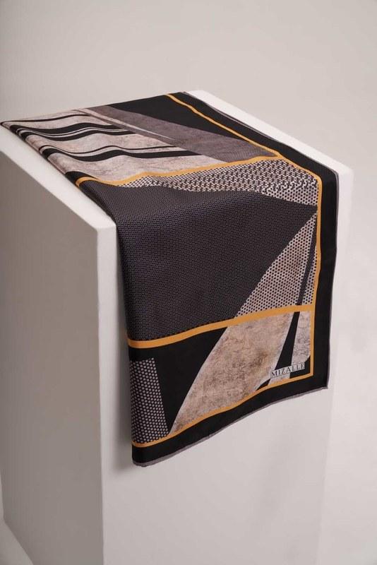 Mozaik Desenli Eşarp (Siyah)
