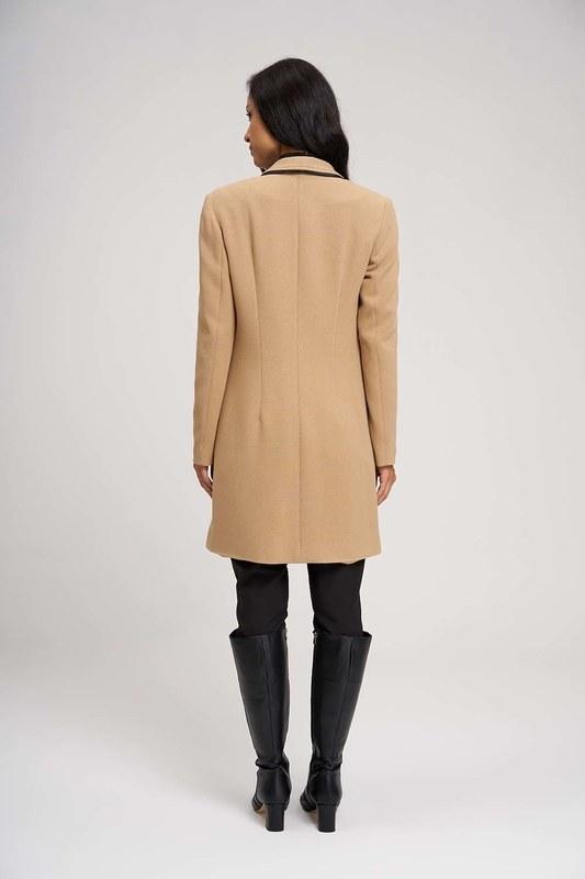 Nakış Detaylı Uzun Ceket (Bej)