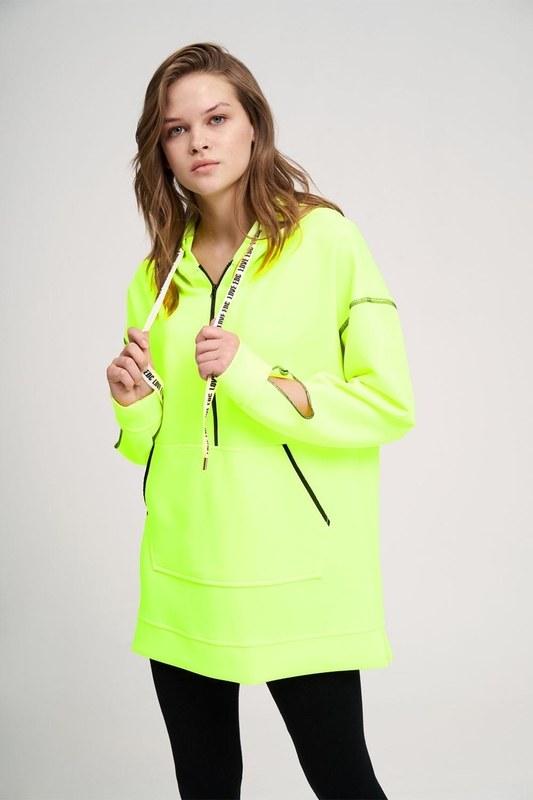 Neon Karyoka Sweatshirt (Sarı)