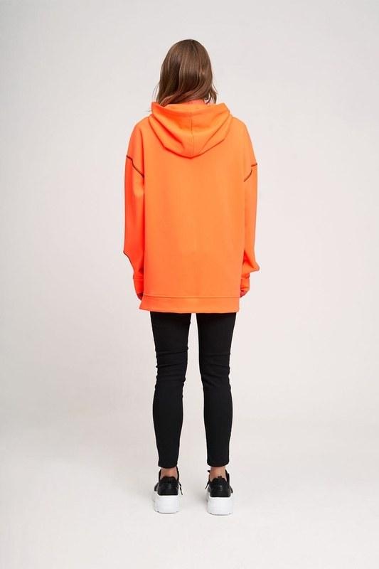 Neon Karyoka Sweatshirt (Turuncu)