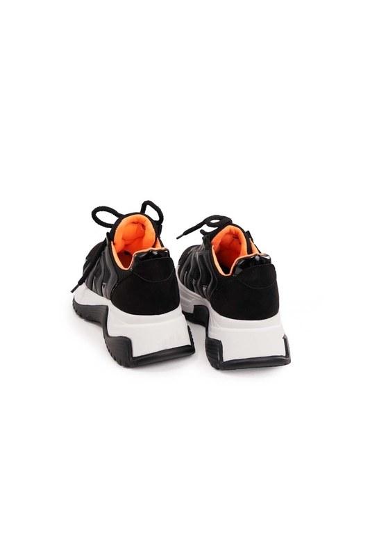 أحذية رياضية مخطط نيون (أسود)