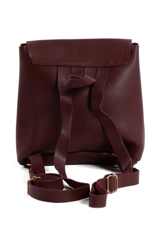 حقيبة ظهر نسائية مع مقدمة انجذاب (لون عنابي)