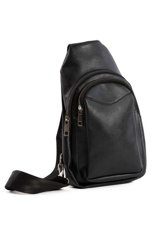 Front Zippered Mini Bag (Black)