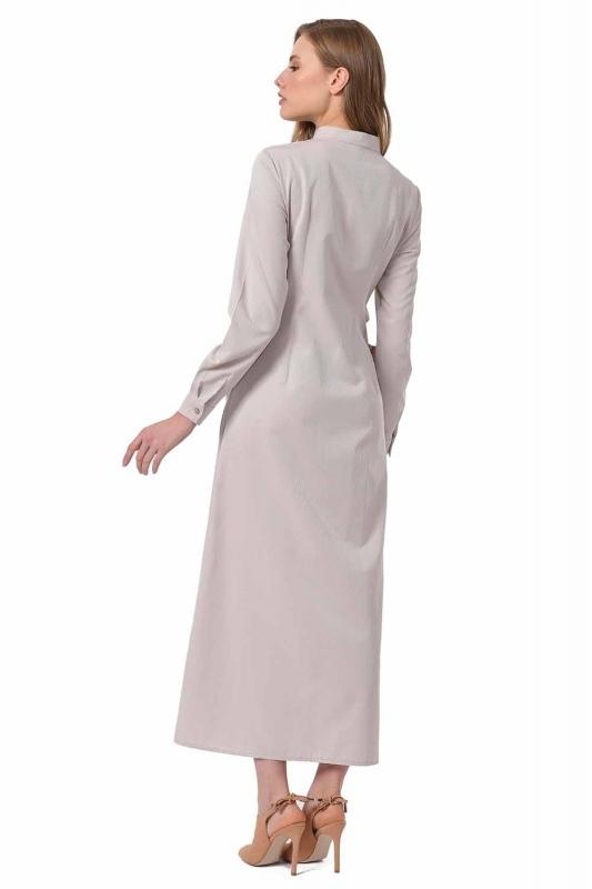 Poplin Dress (Beige)