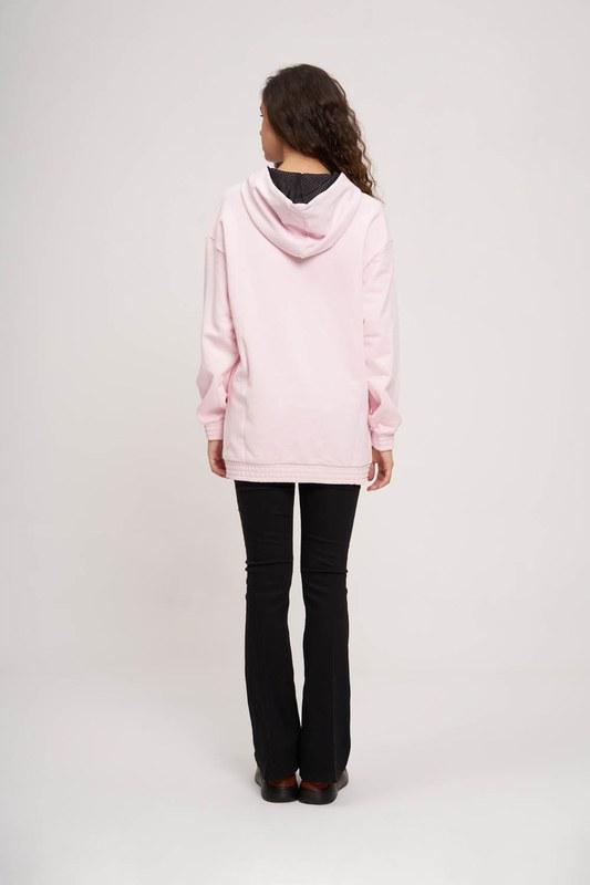 Önü Baskılı Sweatshirt (Pembe)
