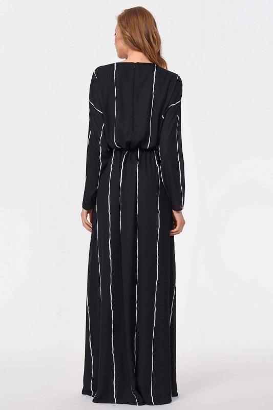 Design Detailed Long Dress (Black)