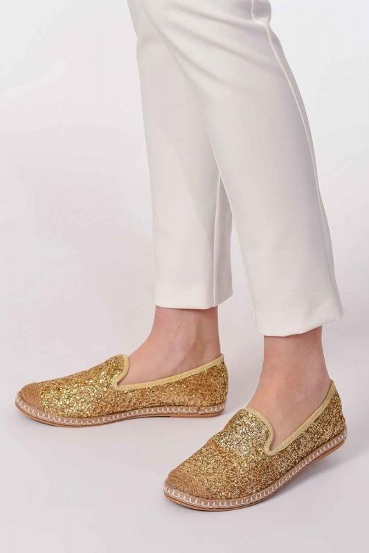 Braided Espadrille (Gold)