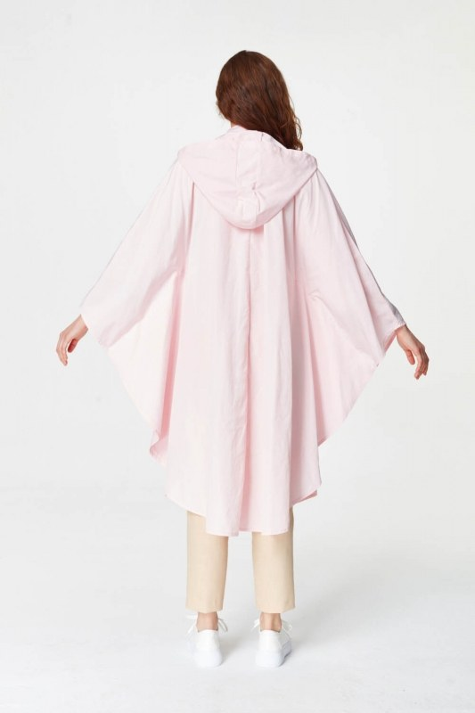 Poncho Design Raincoat (Light Pink)