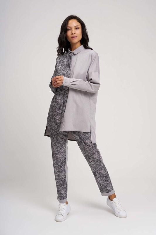Piece Detailed Design Shirt (Grey)
