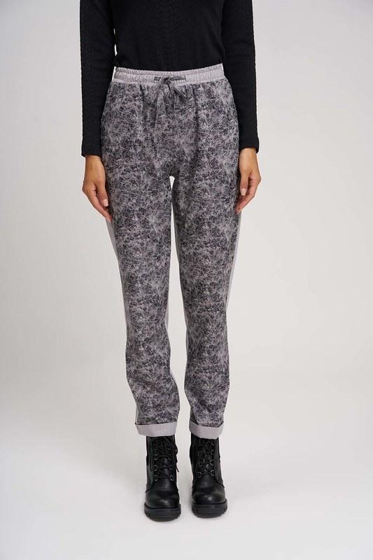 Parça Detaylı Tasarım Pantolon (Gri)