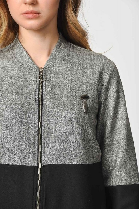 Partite Bomber (Grey)