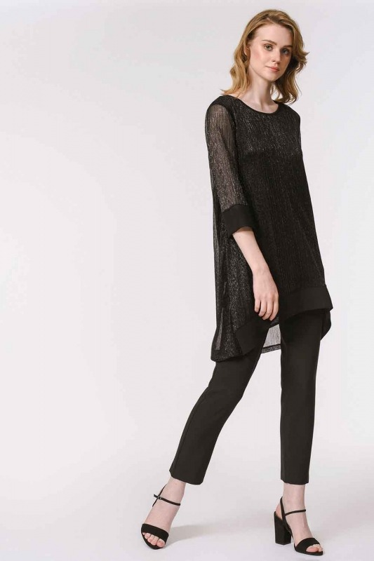 Shiny Luxury Tunic (Black)