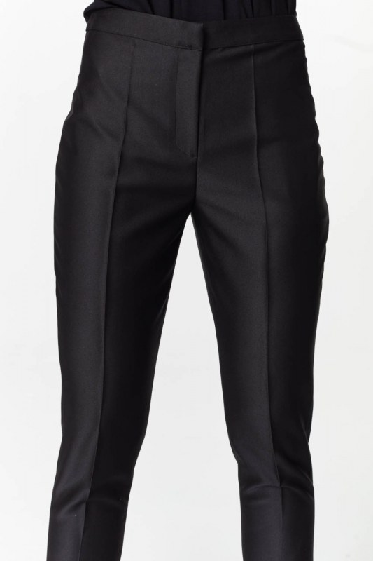 Pants With Glossy Texture (Black)