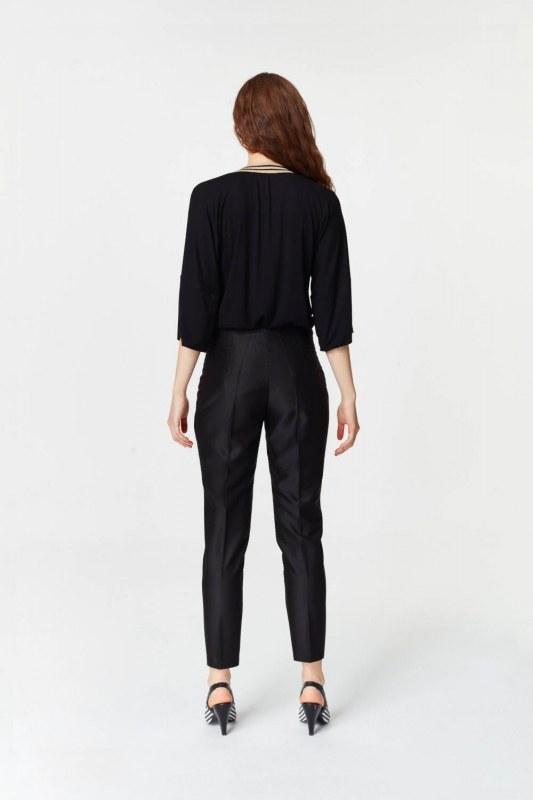 Parlak Dokulu Pantolon (Siyah)