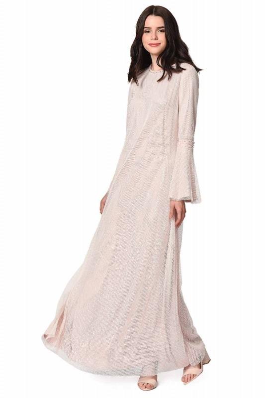 Shiny Evening Dress (Pink)