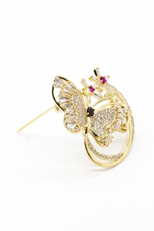 Parlak Kelebek Broş (Sarı)