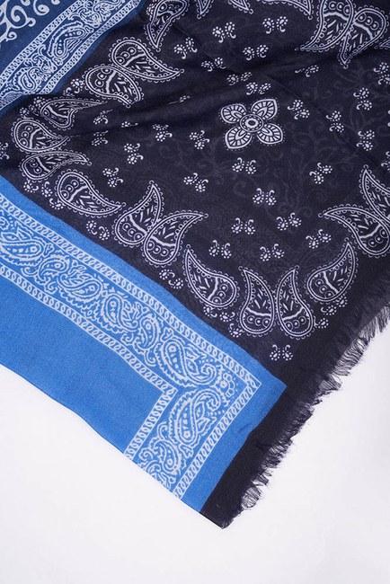 Patchwork Çok Desenli Şal (Mavi) - Thumbnail