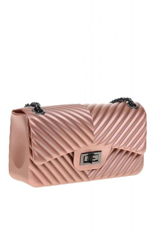 Patterned Hand Bag (Pink)