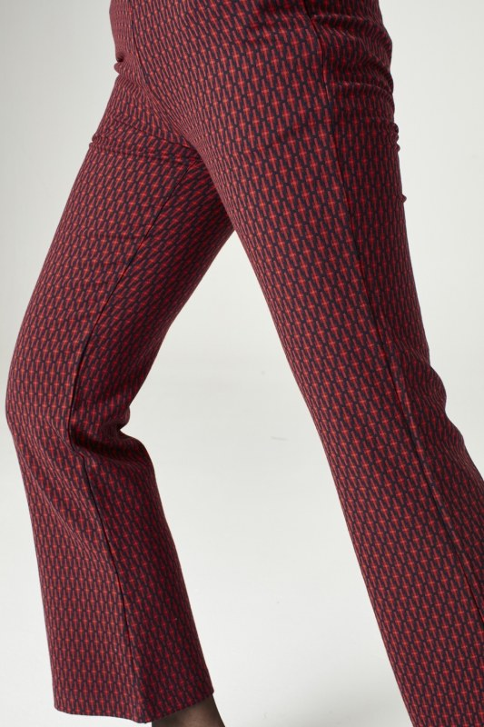 Patterned Trousers (Red)