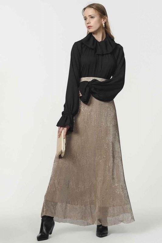 Sequin Skirt (Beige)
