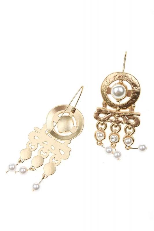 Pearl Looking Dangling Earrings (St)