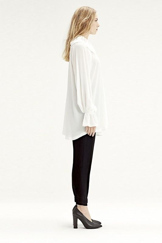 Cloak Collar Dress (Ecru)
