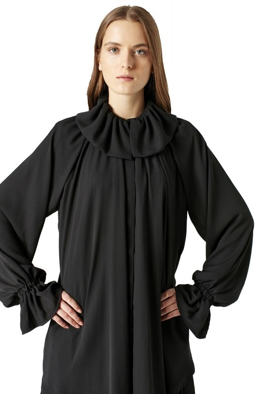 Pelerin Yaka Tunik (Siyah)