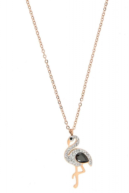 Pelican Detailed Steel Necklace (St)