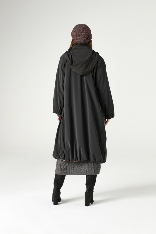 Peluş Astarlı Uzun Mont (Siyah)